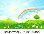 vector cartoon illustration of... | Shutterstock .eps vector #440100856