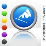 skateboard  snowboard  icon on... | Shutterstock .eps vector #44010094