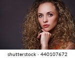 woman in red shirt | Shutterstock . vector #440107672