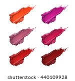Smudged Lipstick Color Shades...