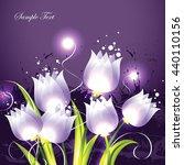 tulips. purple vector... | Shutterstock .eps vector #440110156