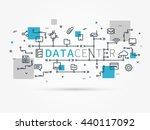 hosting infrastructure... | Shutterstock .eps vector #440117092