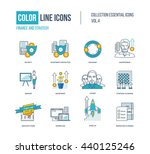 color thin line icons set. logo ... | Shutterstock .eps vector #440125246