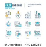 color thin line icons set. logo ... | Shutterstock .eps vector #440125258