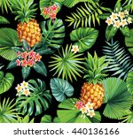 hawaiian seamless pattern with... | Shutterstock .eps vector #440136166