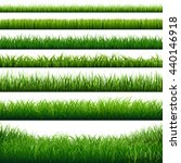 green grass big borders set ... | Shutterstock .eps vector #440146918