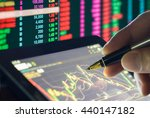 double exposure analysis data...   Shutterstock . vector #440147182