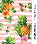 seamless tropical pattern with... | Shutterstock .eps vector #440154418