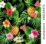 seamless tropical pattern with... | Shutterstock .eps vector #440154472