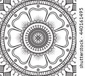 flower mandalas. vintage... | Shutterstock . vector #440161495