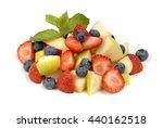 Fruit Salad On A White...