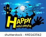 happy halloween cartoon design... | Shutterstock .eps vector #440163562