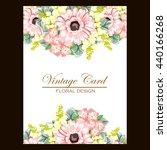 romantic invitation. wedding ... | Shutterstock .eps vector #440166268