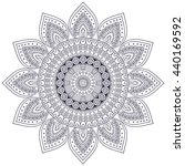flower mandalas. vintage... | Shutterstock . vector #440169592