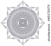 flower mandalas. vintage... | Shutterstock . vector #440170375