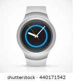 realistic smart watch on white... | Shutterstock .eps vector #440171542