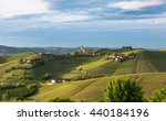 panorama of piedmont vineyards... | Shutterstock . vector #440184196