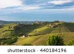 panorama of piedmont vineyards... | Shutterstock . vector #440184196