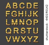 vector golden alphabet.golden... | Shutterstock .eps vector #440190142