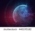 blur and defocus earth... | Shutterstock . vector #440195182