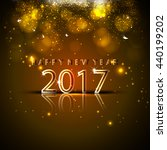 happy new year 2017.the figures ... | Shutterstock .eps vector #440199202
