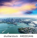 sunset over sydney harbour ... | Shutterstock . vector #440201446