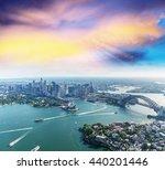 Sunset Over Sydney Harbour Helicopter - Fine Art prints
