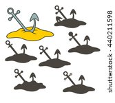 anchor in the sand. find the... | Shutterstock .eps vector #440211598