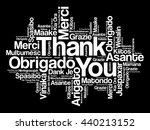 thank you word cloud concept... | Shutterstock .eps vector #440213152