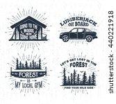 hand drawn vintage badges set... | Shutterstock .eps vector #440221918
