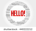hello word cloud in different... | Shutterstock .eps vector #440222212
