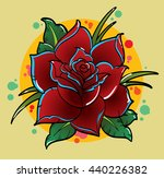 traditional tattoo flower | Shutterstock .eps vector #440226382