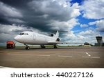 refueling an airplane at the...   Shutterstock . vector #440227126