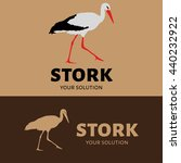 vector logo the stork. brand's... | Shutterstock .eps vector #440232922