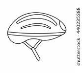 bicycle helmet icon  outline...   Shutterstock .eps vector #440235388