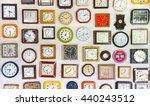 vintage wall clocks variety of... | Shutterstock . vector #440243512