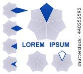 dark blue and grey polygon logo ...