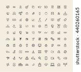 vector ui illustration mixed... | Shutterstock .eps vector #440260165