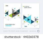 vector design for cover annual... | Shutterstock .eps vector #440260378