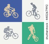 bike and bikers man... | Shutterstock .eps vector #440267992