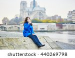 beautiful young tourist in... | Shutterstock . vector #440269798