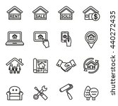 real estate thin icons. | Shutterstock .eps vector #440272435
