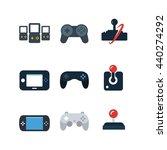 game console joystick... | Shutterstock .eps vector #440274292