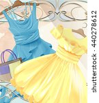 Woman  Festive Dresses On A...