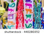 colorful paper decoration near...   Shutterstock . vector #440280352