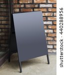 signboard stand black blank... | Shutterstock . vector #440288956