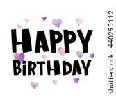 happy birthday   hand drawn... | Shutterstock .eps vector #440295112