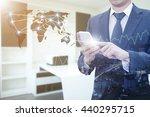 double exposure of businessman...   Shutterstock . vector #440295715