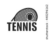 tennis icon and logotype.... | Shutterstock .eps vector #440296162