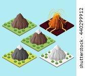 isometric 3d set of mountains... | Shutterstock .eps vector #440299912